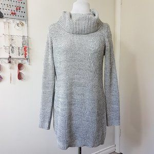 Showpo S/M Gray Knitted Cowl Neck Sweater Dress